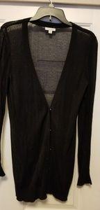 Caslon long black cardigan